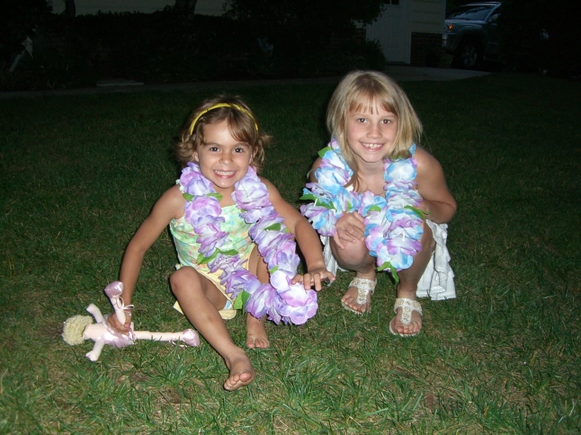 Taylor and cousin Morgan 2006